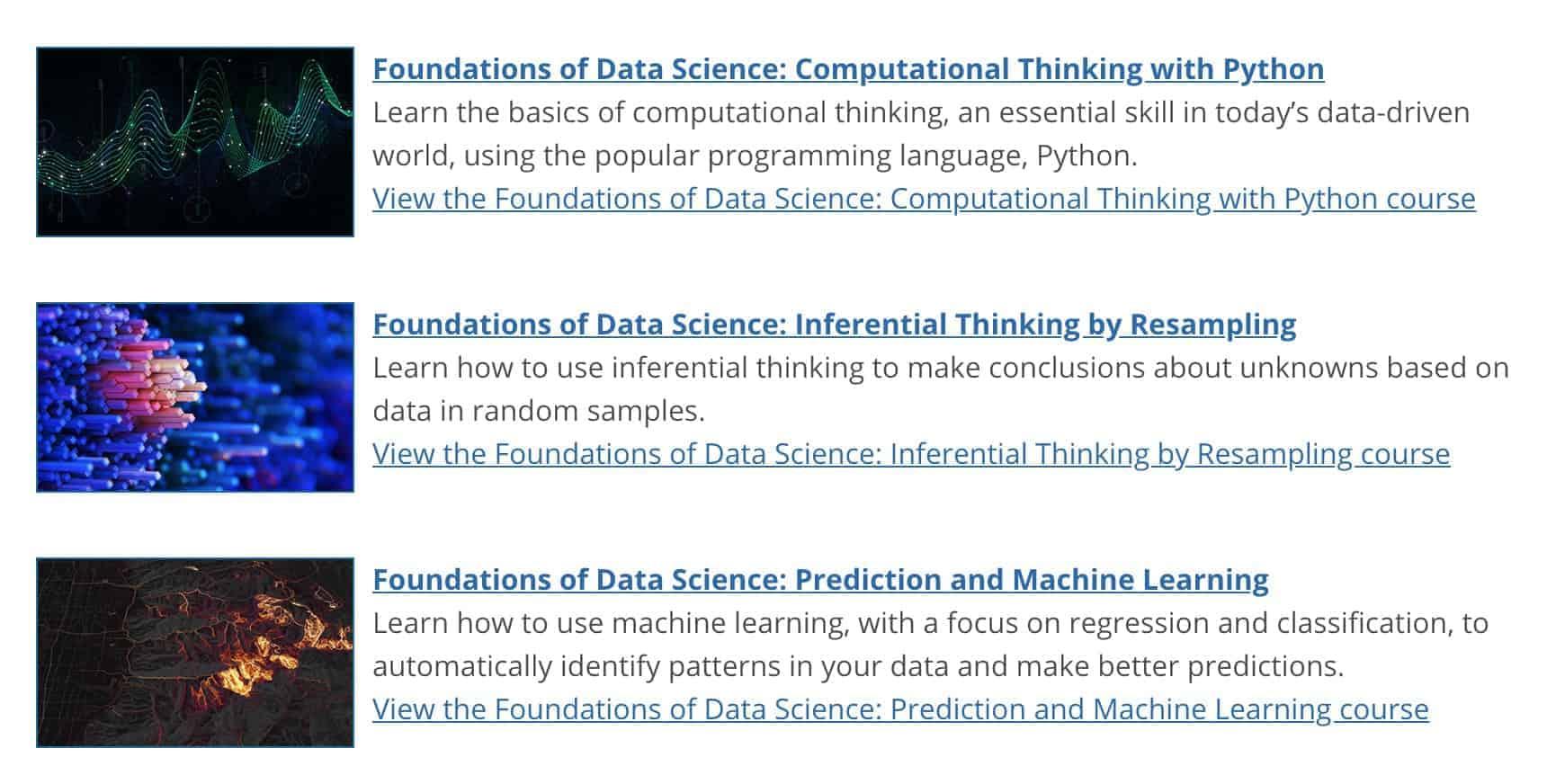 [ดี & ฟรี] คอร์ส Foundation of Data Science จากมหาวิทยาลัย Berkeley 1