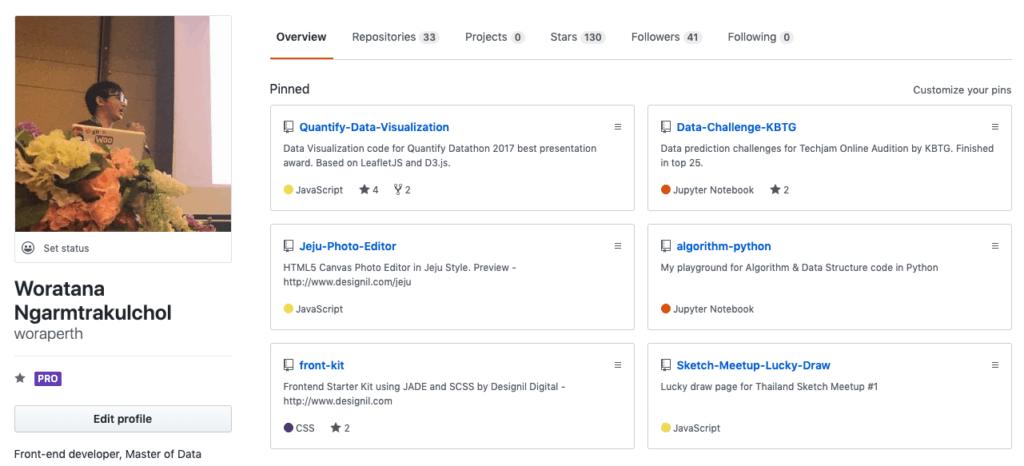 github profile data science portfolio
