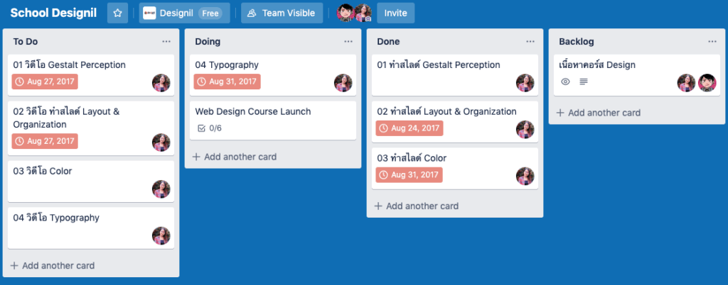 trello data project management free
