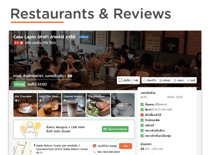 Resturants Reviews