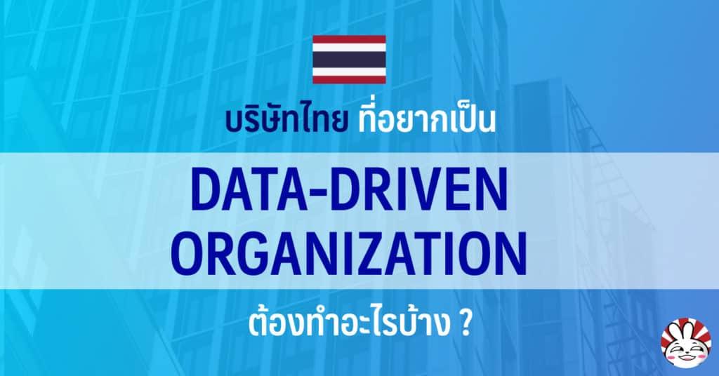 data driven organization interview